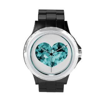 Fondo suave de los corazones de Kawaii de los Reloj