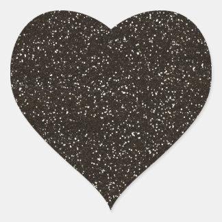 FONDO T de la TEXTURA del BRILLO de BROWN de la Pegatina En Forma De Corazón