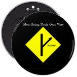 Fondo Tamaño-Negro del Botón-XXLarge del logotipo  Pins