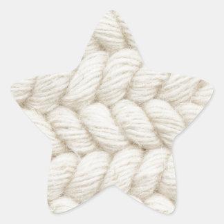 Fondo tejido pegatina en forma de estrella