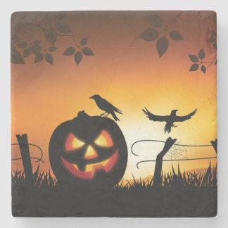 Fondo temático asustadizo de Halloween Posavasos De Piedra