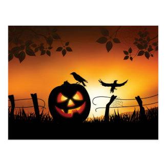 Fondo temático asustadizo de Halloween Postal