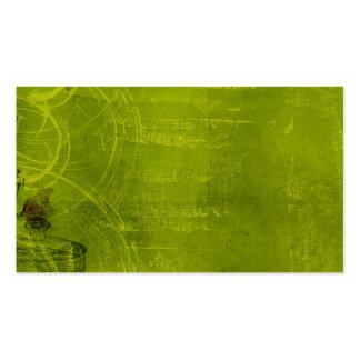 Fondo temático de neón de Halloween de la verde Tarjeta De Visita