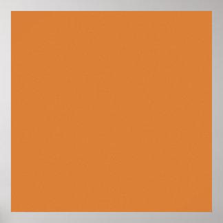 Fondo terroso rojo del tono del color anaranjado póster