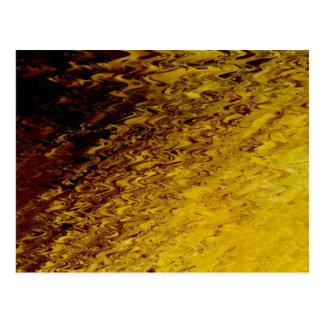 Fondo texturizado ondulado del oro de Collageable Postales