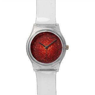 Fondo texturizado rojo reloj