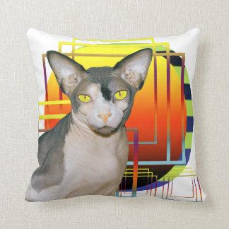 Fondo transparente 2 de Ninja del gato de la almoh Cojin