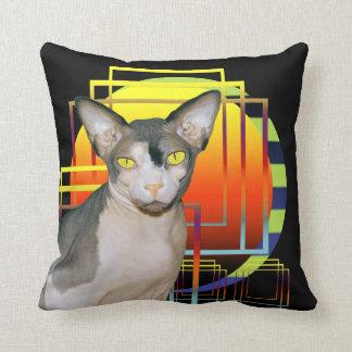 Fondo transparente de Ninja del gato de la almohad Cojín