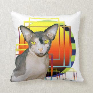 Fondo transparente de Ninja del gato de la almohad Almohada