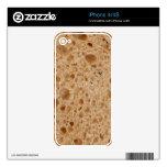fondo v1 del pan calcomanías para el iPhone 4S