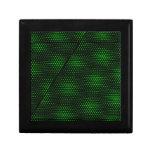 Fondo verde abstracto caja de joyas