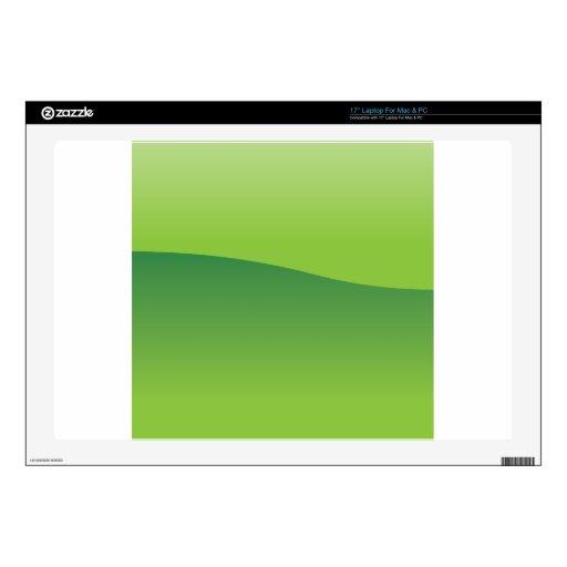 Fondo verde calcomanía para 43,2cm portátil