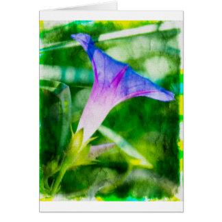 Fondo verde de la correhuela tarjeta de felicitación