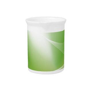 Fondo verde de la onda de la energía jarron