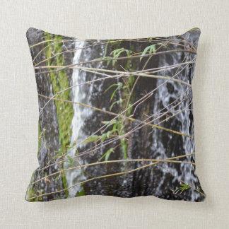 fondo verde de la planta de las ramitas del musgo  cojín