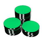 Fondo verde de la primavera juego de fichas de póquer