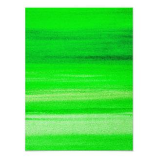 Fondo verde de neón del extracto de la acuarela de cojinete