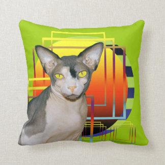Fondo verde de Ninja del gato de la almohada el |