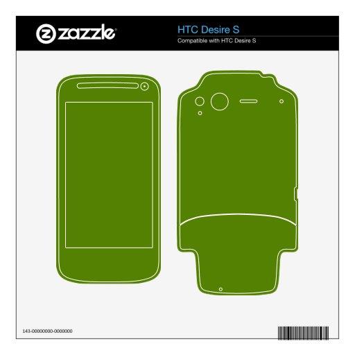 Fondo verde del aguacate HTC desire s skins
