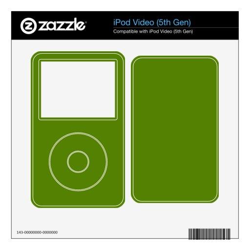 Fondo verde del aguacate iPod video skins