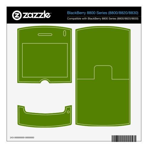Fondo verde del aguacate calcomanía para BlackBerry