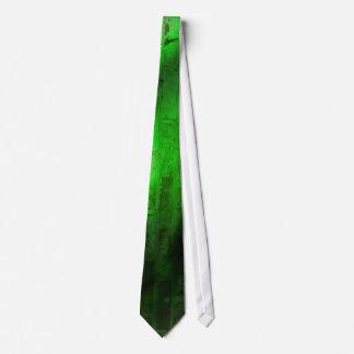 Fondo verde del ladrillo corbata personalizada