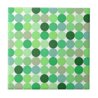 Fondo verde del punto azulejo cuadrado pequeño