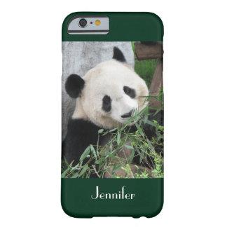 fondo verde oscuro de la panda gigante del caso funda barely there iPhone 6