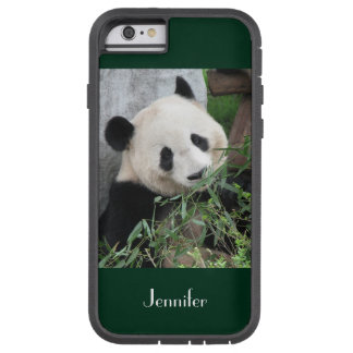 fondo verde oscuro de la panda gigante del caso funda tough xtreme iPhone 6
