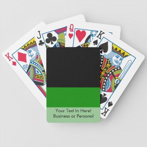 fondo verde superior negro del personalizado de la baraja cartas de poker