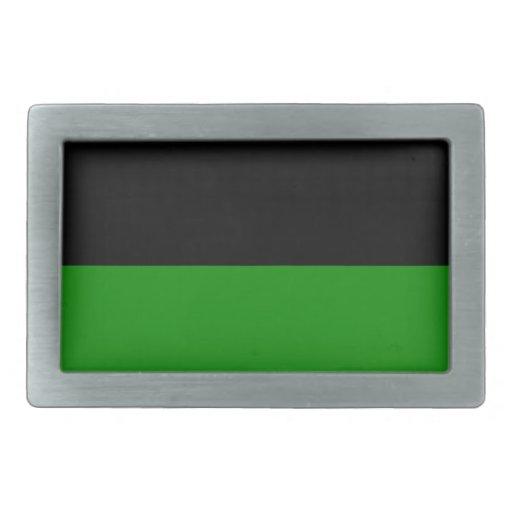 fondo verde superior negro del personalizado de la hebillas cinturón rectangulares