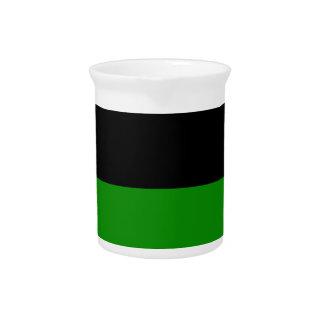 fondo verde superior negro del personalizado de la jarrón