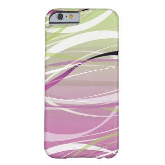 Fondo verde y rosado abstracto de las ondas funda para iPhone 6 barely there