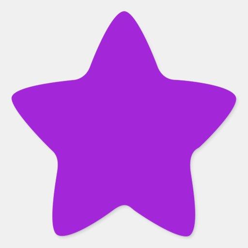 Fondo violeta oscuro del color pegatina forma de estrella personalizadas