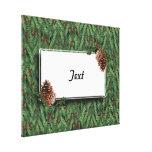 Fondo w/Tag del árbol de navidad Impresiones En Lona