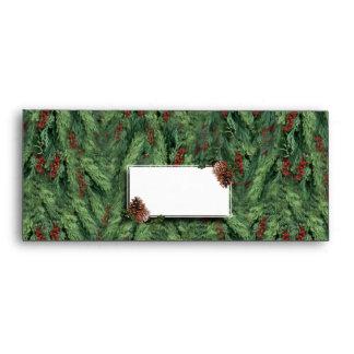 Fondo w/Tag del árbol de navidad