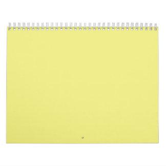 Fondos amarillos en colores pastel en un calendarios