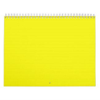 Fondos amarillos soleados brillantes en un calendario