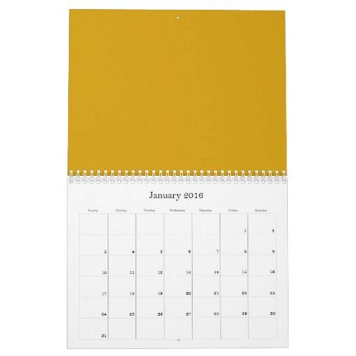 Fondos anaranjados del oro en un calendario