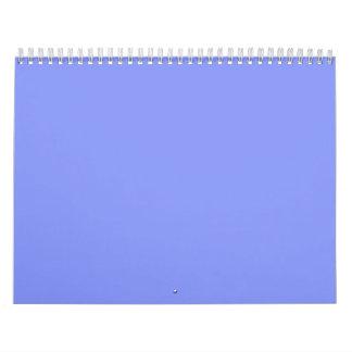 Fondos azules del Cornflower en un calendario