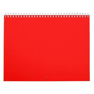 Fondos azules del peso rojo multicolor en un calendario de pared