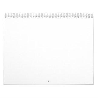 Fondos blancos clásicos en un calendario