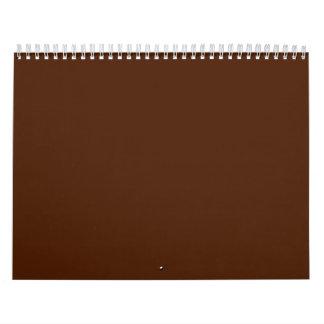 Fondos de Brown en un calendario