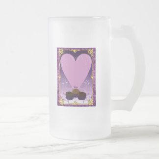 Fondos de la tarjeta del día de San Valentín Taza De Cristal