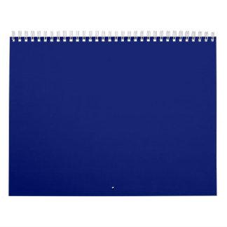Fondos de los azules marinos en un calendario