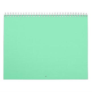 Fondos en colores pastel multicolores en un calendarios