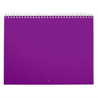 Fondos púrpuras en un calendario