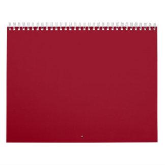 Fondos rojos en un calendario