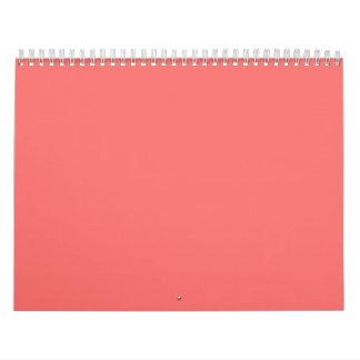 Fondos rosados en un calendario