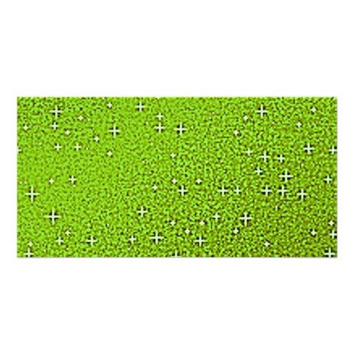 Fondos verdes del brillo plantilla para tarjeta de foto